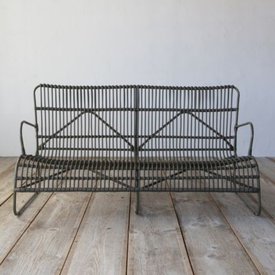 Open Weave All Weather Wicker Sofa