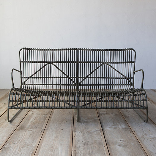 View larger image of Open Weave All Weather Wicker Sofa