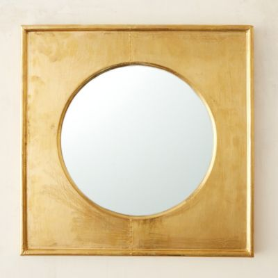 Brass Square Frame Mirror