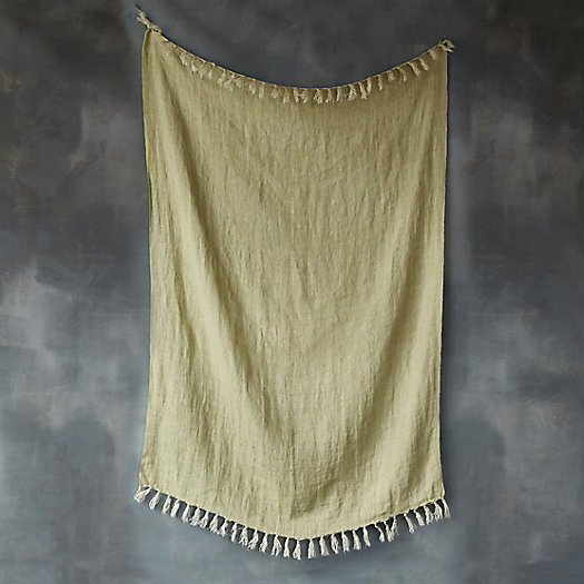 View larger image of Tasseled Linen Throw