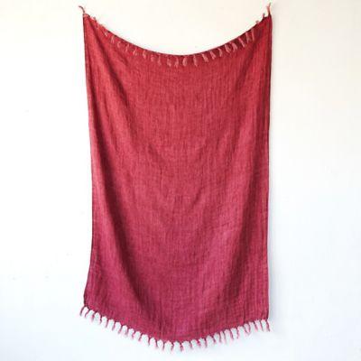 Tasseled Linen Throw