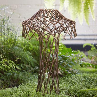 Woven Willow Mushroom Obelisk