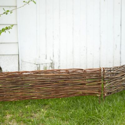 Woven Willow Border Fence Set