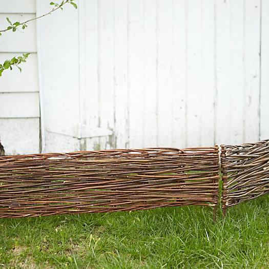 View larger image of Woven Willow Border Fence Set