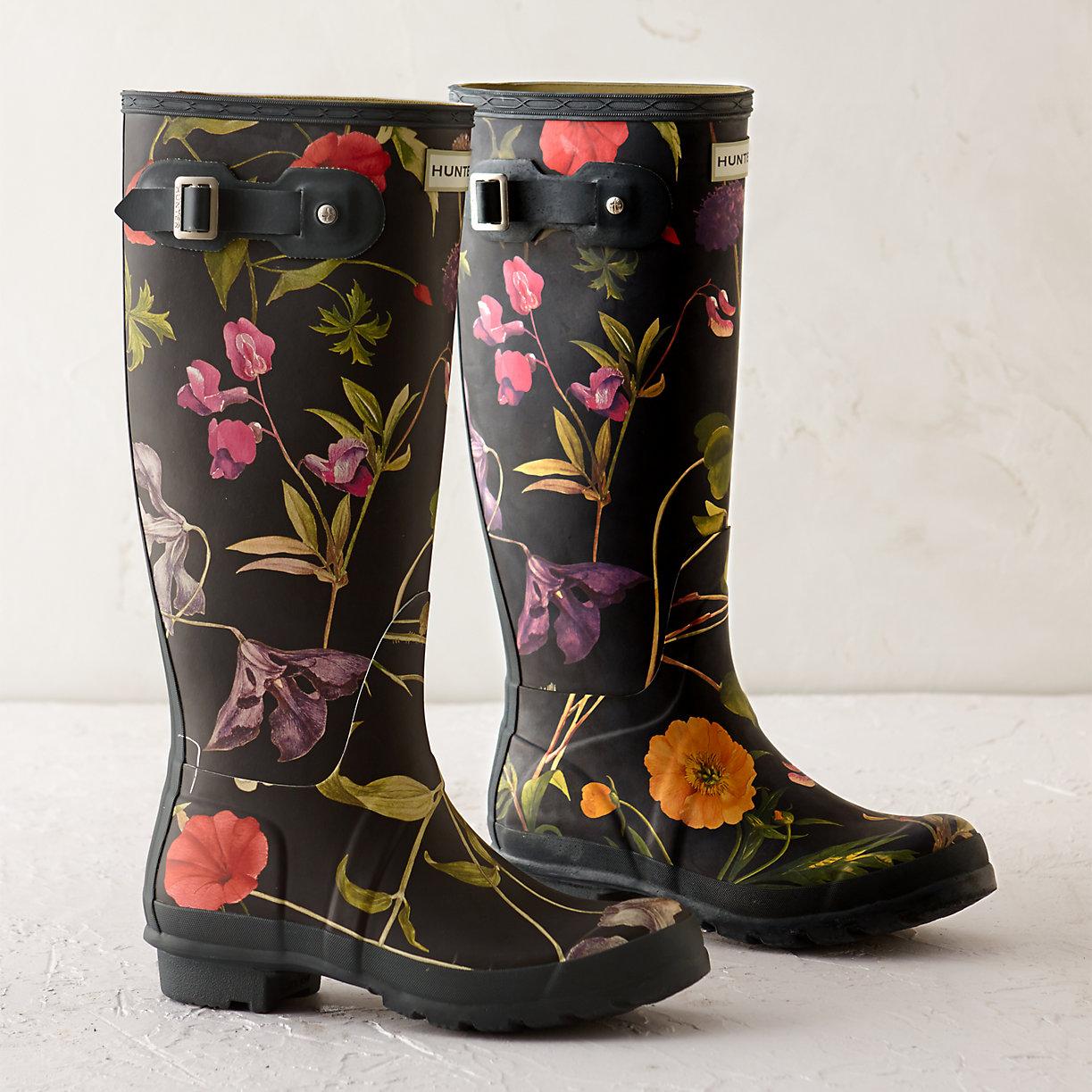 Hunter Fl Garden Boots Tall Terrain