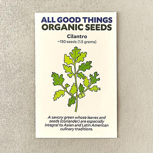View larger image of Organic Cilantro Seeds