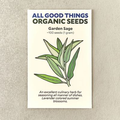 Organic Garden Sage Seeds