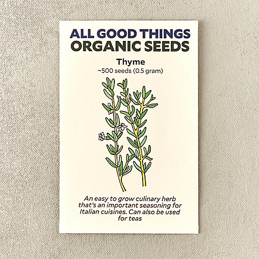 View larger image of Organic Thyme Seeds