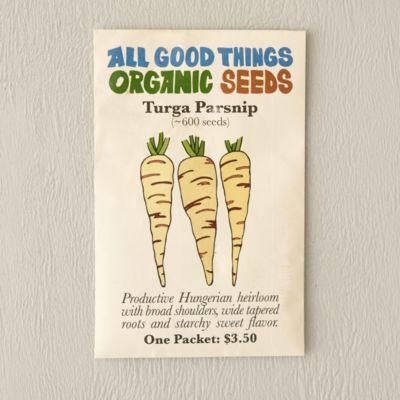 Organic Turga Parsnip Seeds