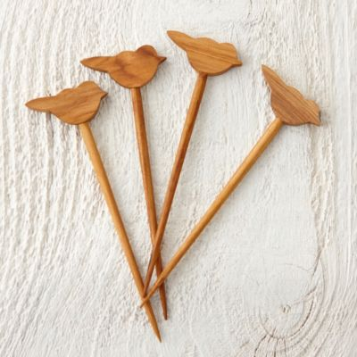 Teak Bird Cocktail Picks