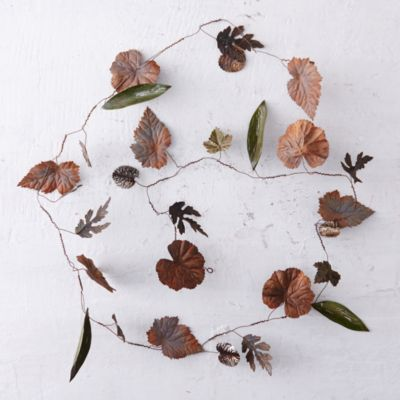 Pressed Metal Leaf Garland