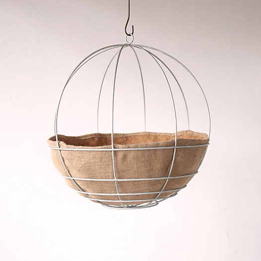 View larger image of Water-Saving Natural Hanging Basket Liner