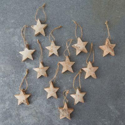 Birch Star Ornaments