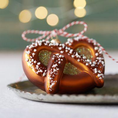 Glass Pretzel Ornament