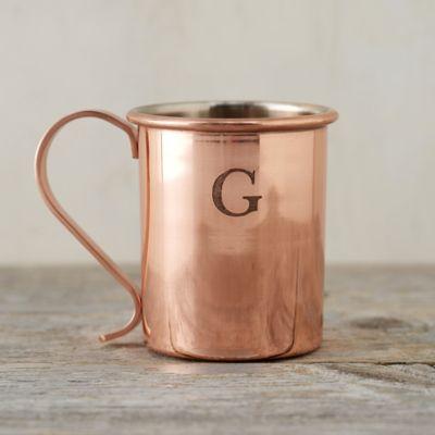 Monogrammed Copper Mug*