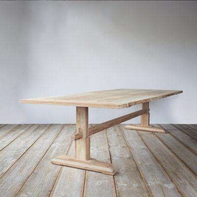 Protected Teak Keyed Dining Table, 9.5'