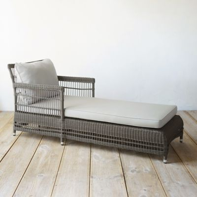 Trellis Weave All Weather Wicker Lounger