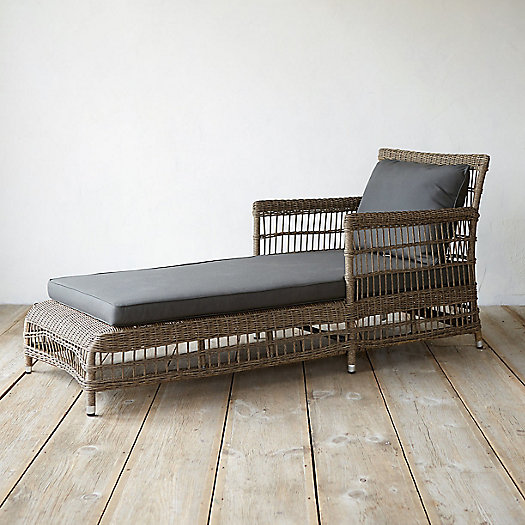 View larger image of Trellis Weave All Weather Wicker Lounger