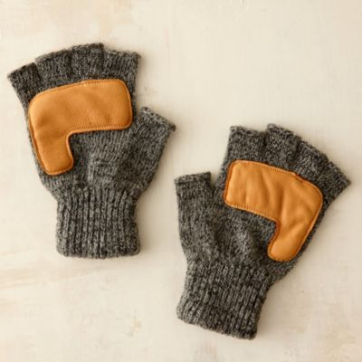 Men's Fingerless Rag Wool Gloves