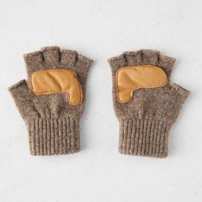 Men's Fingerless Rag Wool Gloves
