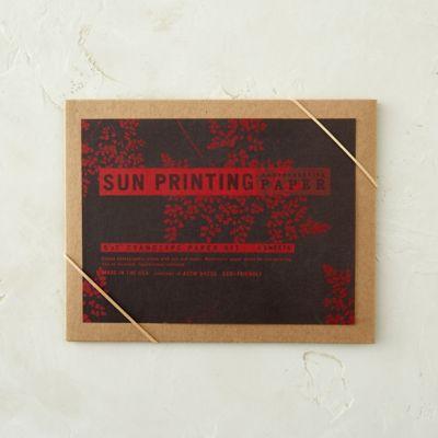Sun Printing Kit, Red Paper