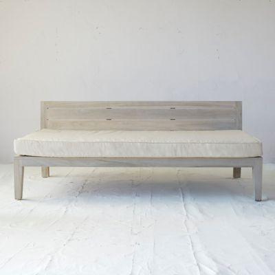 Slatted Teak Outdoor Sofa Cushion