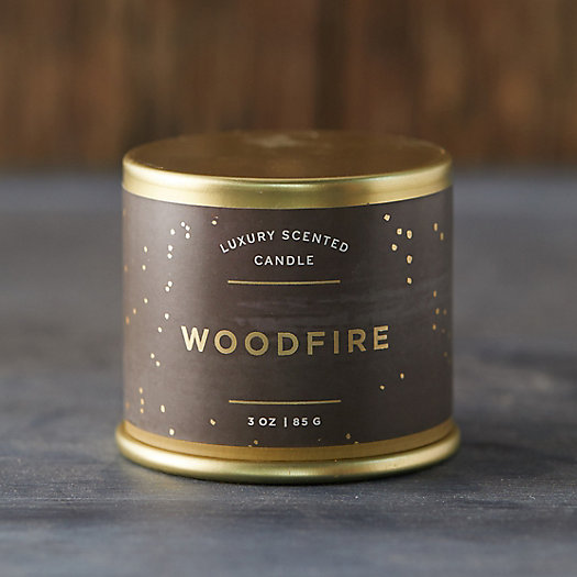View larger image of Woodfire Tin Candle