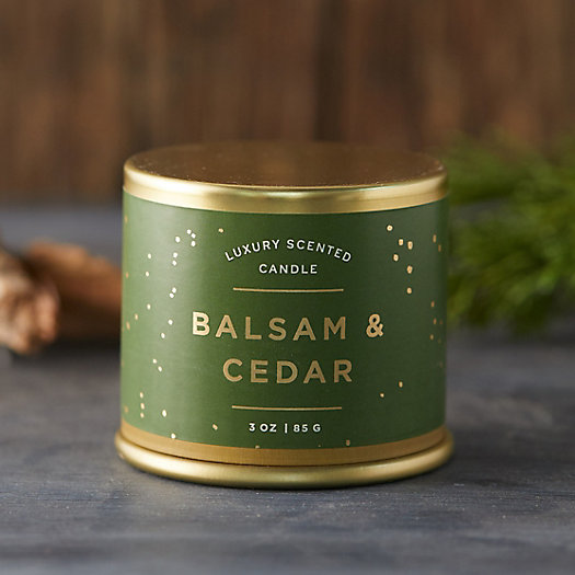 View larger image of Balsam & Cedar Tin Candle