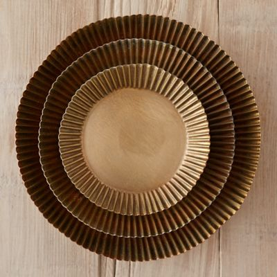 Habit + Form Tart Plant Tray, Brass
