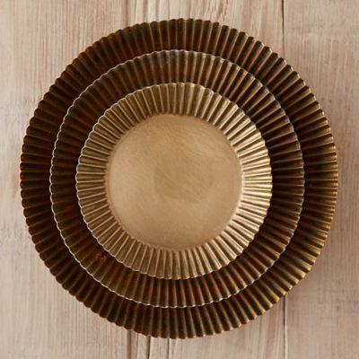 Habit + Form Tart Plant Tray, Brass