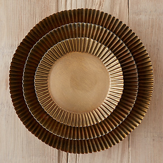 View larger image of Habit + Form Tart Plant Tray, Brass