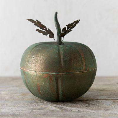 Verdigris Pumpkin Trinket Box