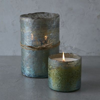 Textured Glass Candle, Grapefruit & Pine