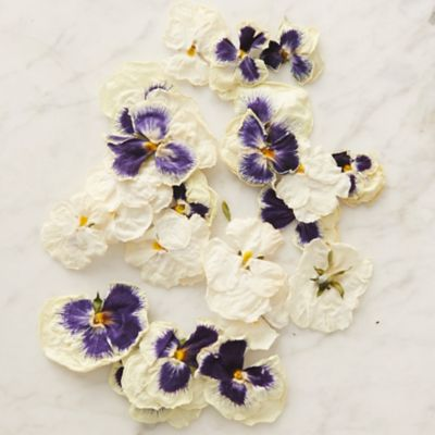 Edible White Pansies