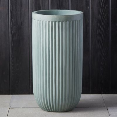 Fiber Concrete Tall Barrel Pot