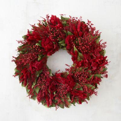 Crimson & Greens Wreath