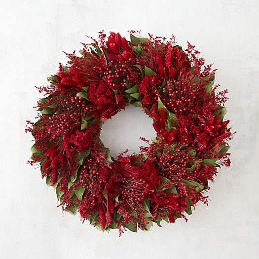 View larger image of Crimson & Greens Wreath