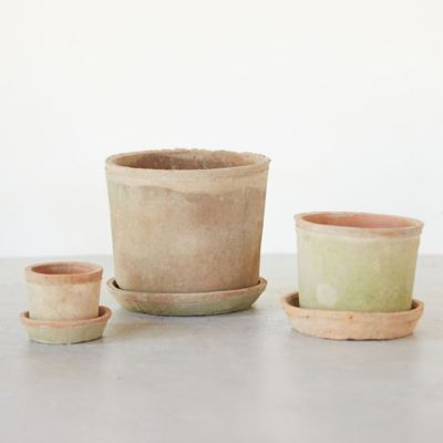 Earth Fired Clay Low Sill Pot