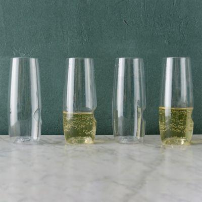 Shatterproof Champagne Flutes, Set of 4