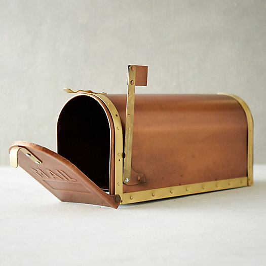 View larger image of Copper & Brass Mailbox