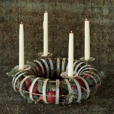 Fillable Tabletop Candle Wreath
