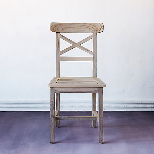 View larger image of Protected Teak Crossback Side Chair