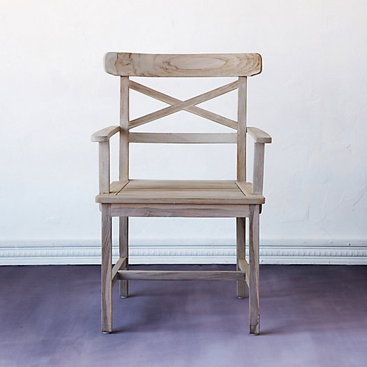 View larger image of Crossback Teak Armchair
