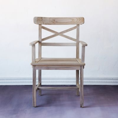 Protected Teak Crossback Armchair