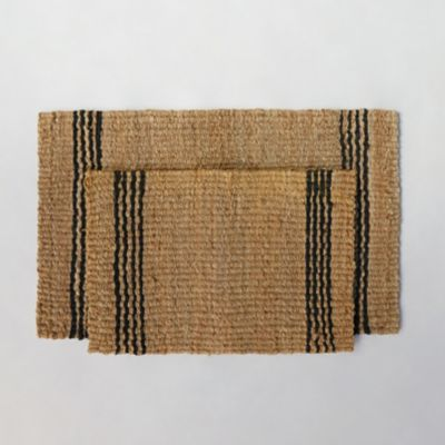 Vertical Stripe Jute Doormat