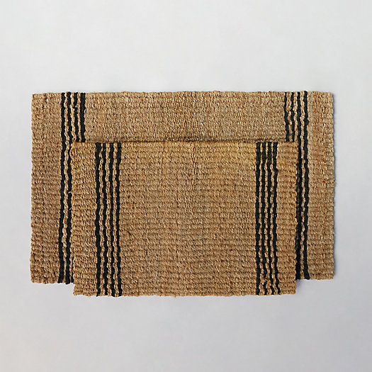 View larger image of Vertical Stripe Jute Doormat