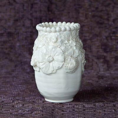 Frances Palmer Floral Band Vase