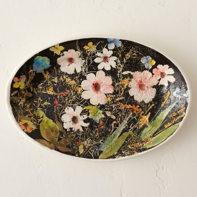 Wildflower Series Oval Platter