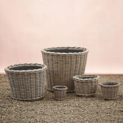 All Weather Wicker Taper Planter
