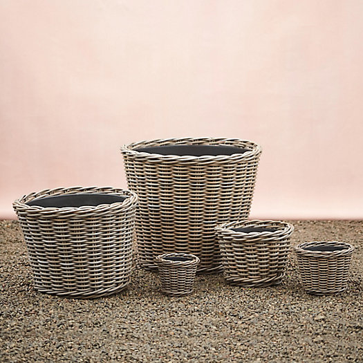 View larger image of All Weather Wicker Taper Planter